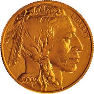 American Gold Buffalo Front