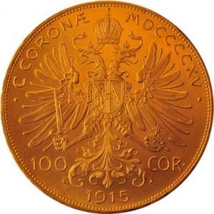 Austrian Gold 100 Corona Back