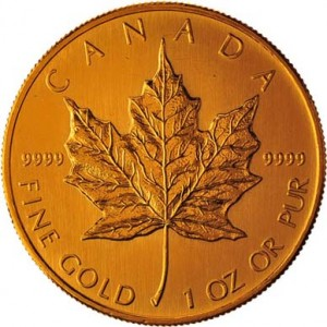 Canadian Gold Maple Leaf Back