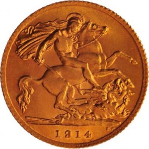 British Gold Sovereign Back