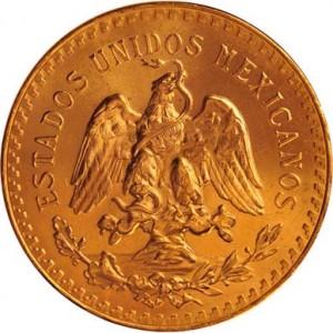 Mexican 50 Pesos Gold Back