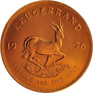 South African Gold Krugerrand Back