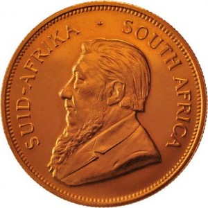 South African Gold Krugerrand Front